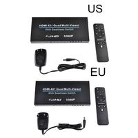 HD HDM 4x1Quad Multi Viewer Splitter HD 1080P Signal Audio Transmitter Receiver Adapter Double Screen DVI Through A HDMI To DVI