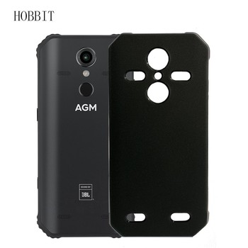 Перейти на Алиэкспресс и купить Матовый черный чехол для AGM A9 A10 JBL H1 H2, Мягкая силиконовая задняя крышка из ТПУ, ударопрочный цветной чехол agm X3, защитный чехол для телефона