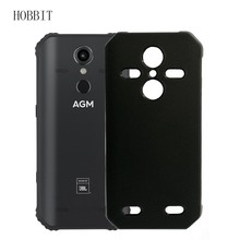 Matte Black Case For AGM A9 A9 JBL H1 Soft TPU Silicone Back Cover Sho