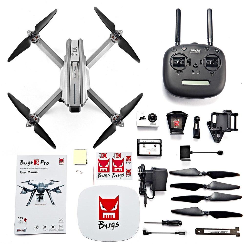 Drone MJX bogue 3 Pro RC B3PRO 5G WiFi HD 1080 P FPV caméra Drones avec GPS suivez-moi Mode hélicoptère sans balai RC quadrirotor