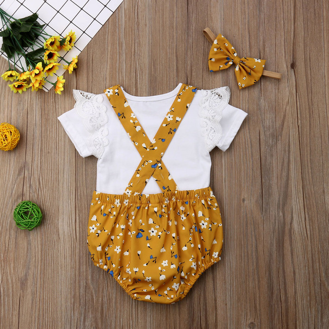 Baby Girl Floral Sunsuit Outfit