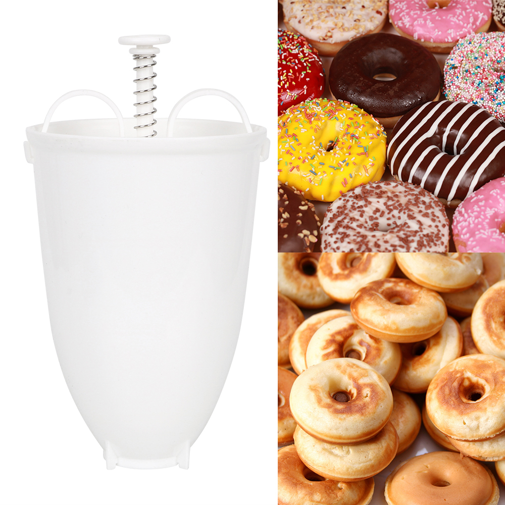 Donut Mould Manual Lightweight Doughnut Machine Easy Fast Portable Donut Maker Waffle Dispenser Plastic image