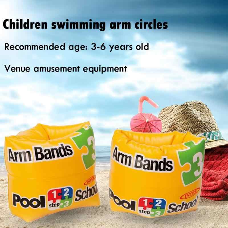 1 Pair Kids Inflatable Arm Float Baby PVC Arm Swimming Ring Children Swim Learning Sleeves Circle Supplies Safety Water Play Toy