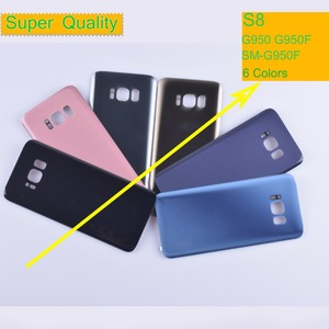 Image 1 - 10Pcs/lot For Samsung Galaxy S8 G950 G950F SM G950F Housing Battery Cover Back Cover Case Rear Door Chassis Shell S8 Housing