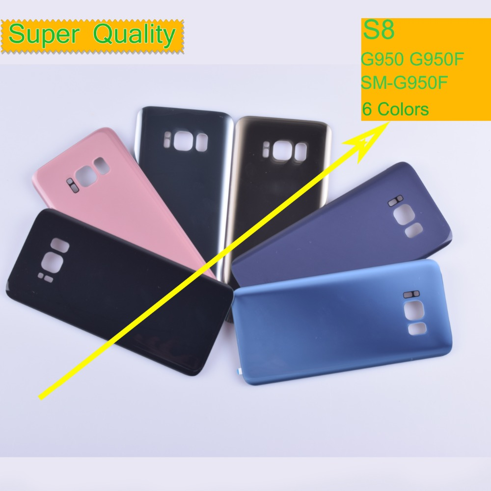 10Pcs/lot For Samsung Galaxy S8 G950 <font><b>G950F</b></font> <font><b>SM</b></font>-<font><b>G950F</b></font> Housing Battery Cover Back Cover Case Rear Door Chassis Shell S8 Housing image