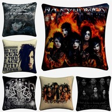 Black Veil Brides Rock Figures Decorative Pillow Case For Sofa 45x45cm Linen Cushion Cover Home Decor Pillow Covers Almofada black veil brides black veil brides black veil brides