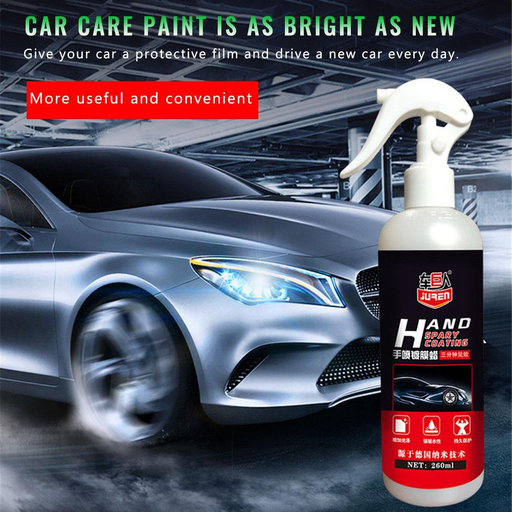 Image 3 - Liquid Ceramic Spray Coating Car Polish Spray Sealant Top Coat Quick Nano Coating 260ML Car Spray Wax Car Cleaning Dropshipping-in Paint Protective Foil from Automobiles & Motorcycles