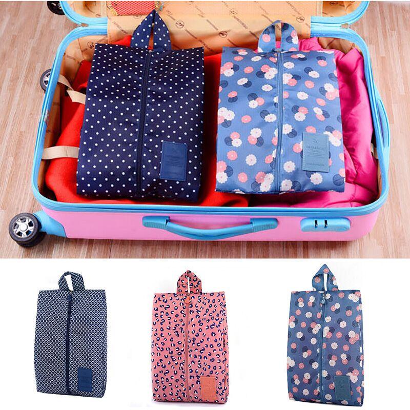 Multi-colored Portable Waterproof Shoe Bag Travel Folding Storage Organizer Zipper Toiletry Makeup Storage Pouch Organizer Bag