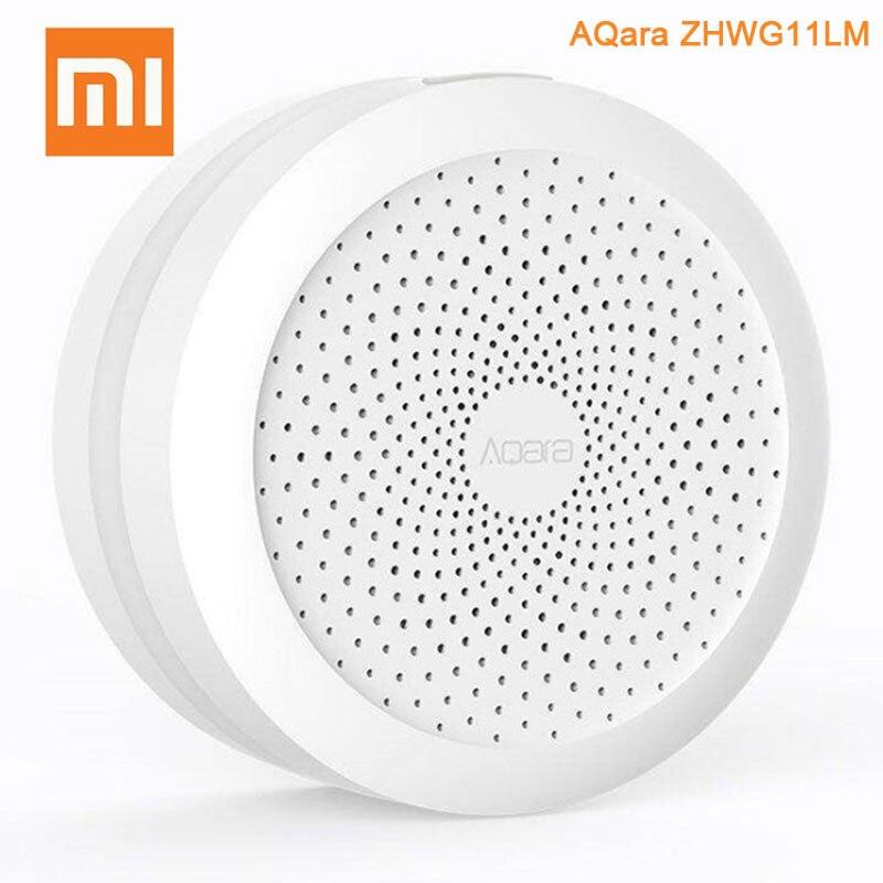 Оригинальный Xiaomi Mijia AQara ZHWG11LM беспроводной Wi Fi Zigbee Smart gateway с RGB светодиодный ночник для Homekit версия приложение управление