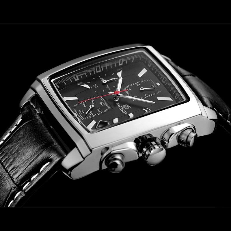 SIHAIXIN Luminous Men Watch Sport Stainless Steel Case Leather Fashion Male Analog Waterproof Casual Quartz Clock reloj hombre