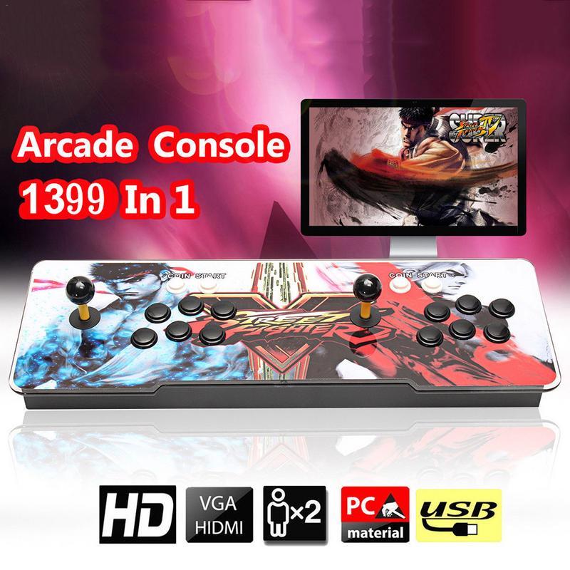 Pandora Box 6 s 1388 en 1 rétro jeux vidéo Double bâton Arcade Console lumière Pandora jeux