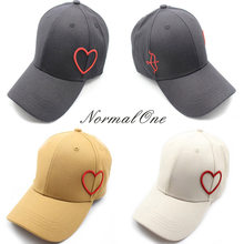 f24eb387f2a Women Men Unisex Hip Hop Kpop Bboy Snapback Baseball Cap Embroidery Heart  Sun Visor Dad Hat