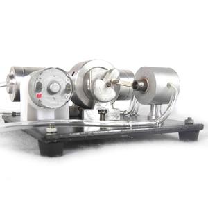 Image 3 - DIY הרכבה קיטור מנוע דגם מדע ניסוי ערכת חשמלי גנרטור מוקדם צעצועים חינוכיים לילדים