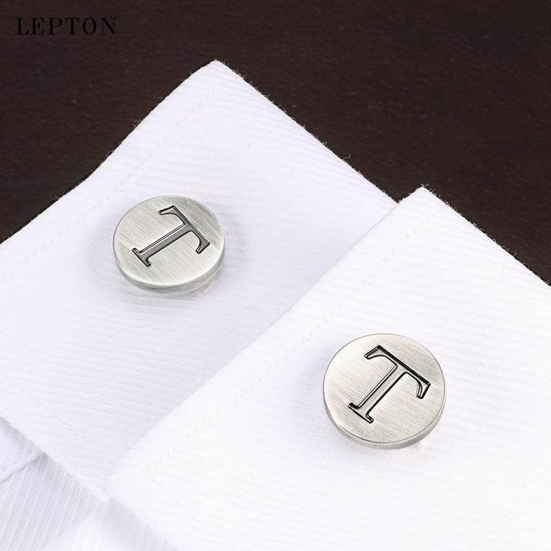 Купить запонки lepton мужские с буквами алфавита классические антикварные