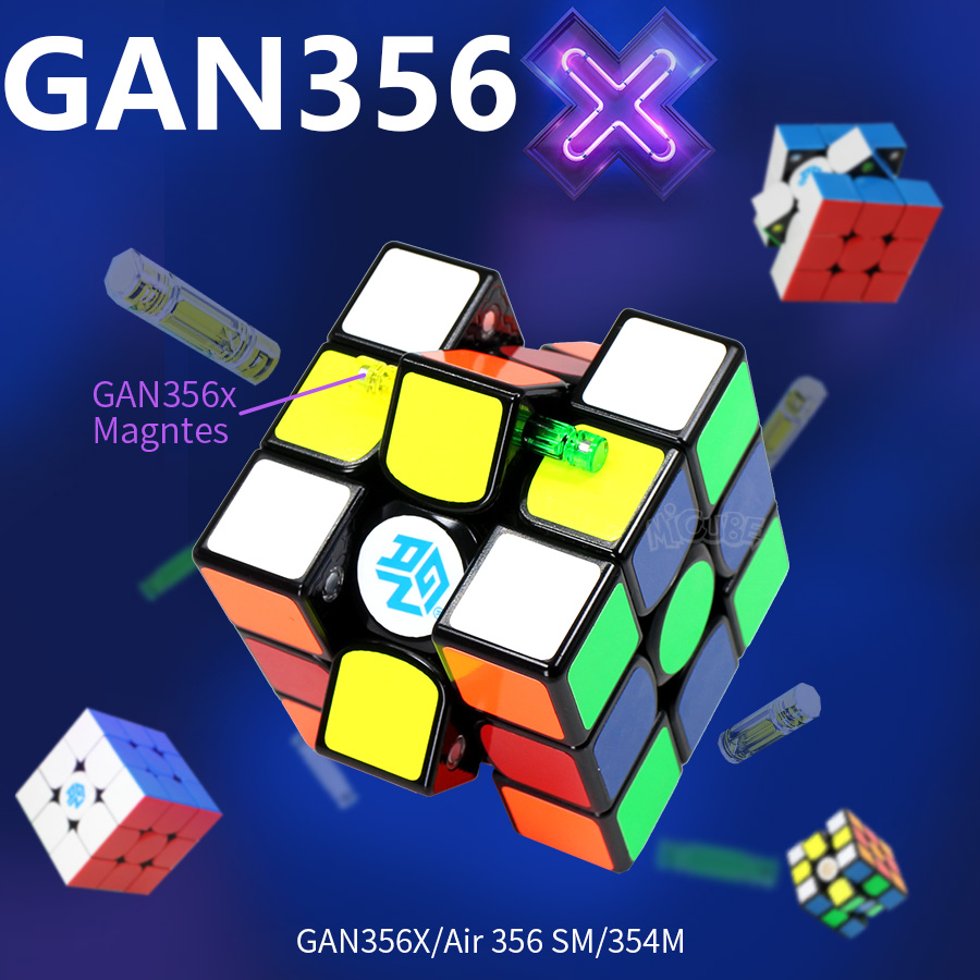 Gan 356 X 3x3x3 Magnetic Cube 3x3 Magic Magnet Cube Speed Gan Cube Air 356 SM 354M Gan 356x Neo Magico Cubo 3*3 GAN 356 X