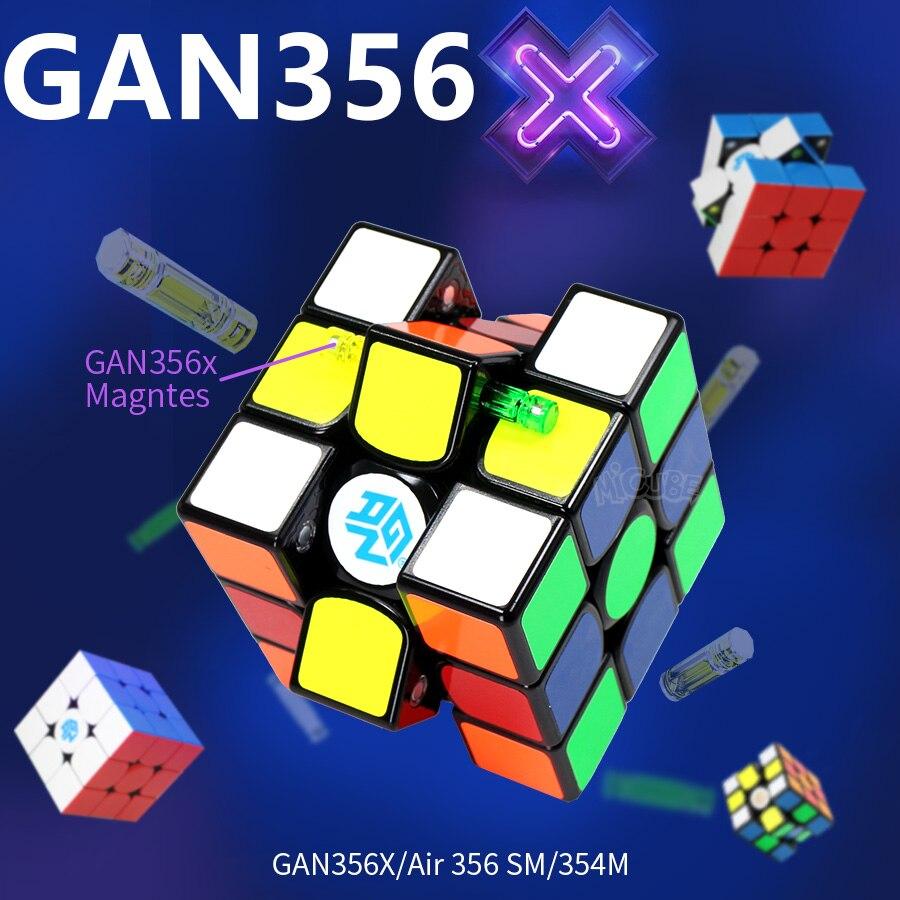 Gan 356x3x3x3 cubo magnético 3x3 ímã mágico velocidade cubo gan ar 356 m sm 354 gan 356x neo magico cubo 3*3 gan 356x