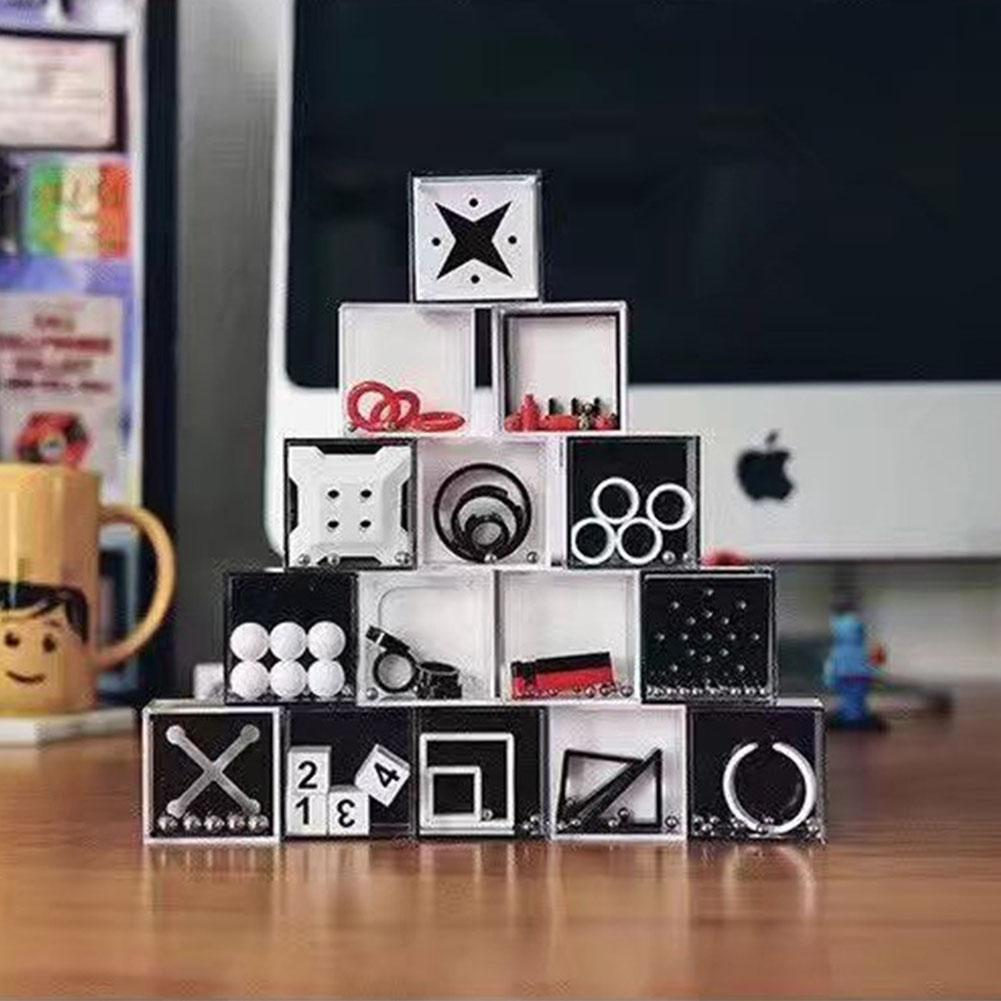 10pcs Balance Boxes Maze Puzzle Toy Teenager Adult Reduce Pressure Intellectual Development Christmas Gift Decoration