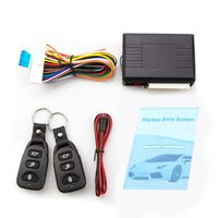 Universal Car Alarm Systems Auto Remote Central Kit Door Lock Keyless Entry System Central Locking with Remote Control Burglar Alarm     -