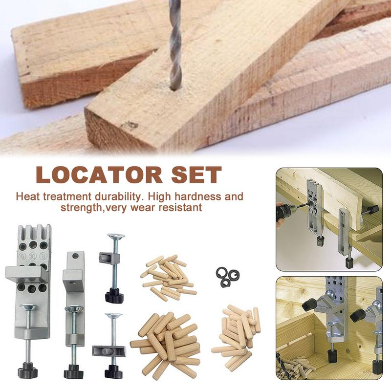 Wood Board Connection Drilling Locator Woodworking Drilling Hole Carpentry Auxiliary Tool