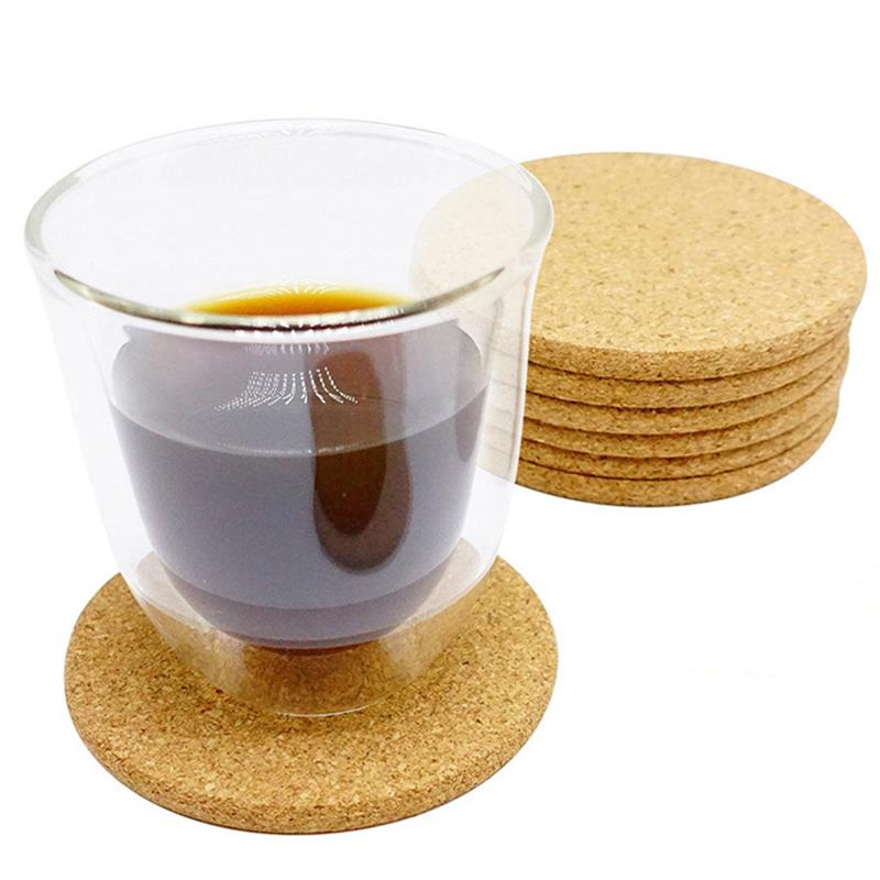 6pcs Cup Coasters Plain Round Cork Coasters Coffee Drink Tea Cup Table Placemats Creative Mug Coaster Heat Resistant Cup Coaster Mats Pads Aliexpress