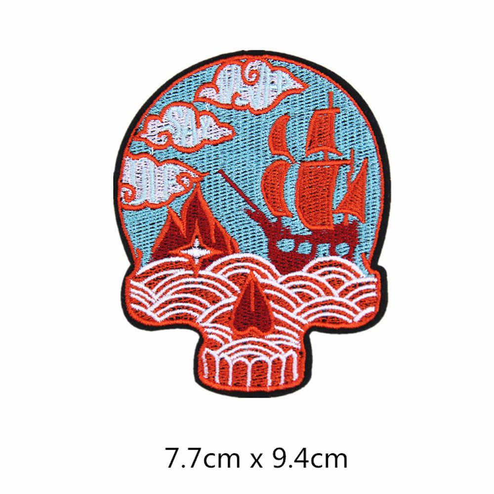 Skull Tiger Camel Bearแพทช์หัวใจหมวกรองเท้าเหล็กบนAppliquesปักDIYอุปกรณ์เครื่องแต่งกายPatchเสื้อผ้าผ้า