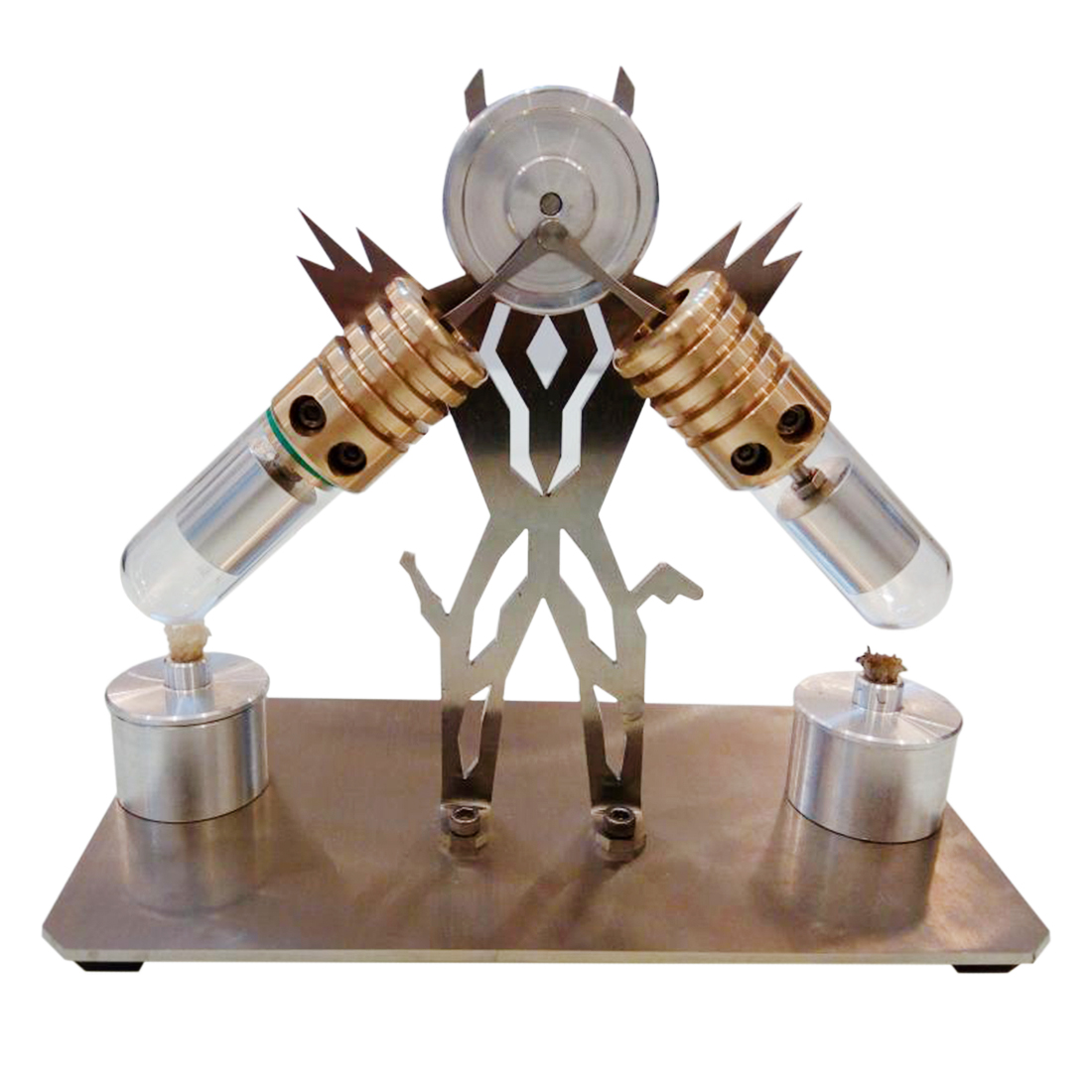 Machine en forme de V Superman modélisation Double cylindre modèle de moteur Stirling jouet pour enfant Science éducative modèle Kit de construction