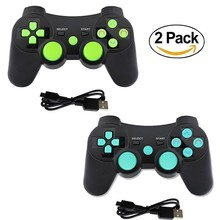 For PS3 Controller Wireless Dual shock Bluetooth Joystick Gaming Controller for PlayStation 3 with Charger Cable 2 Pack sniper ghost warrior double pack playstation 3