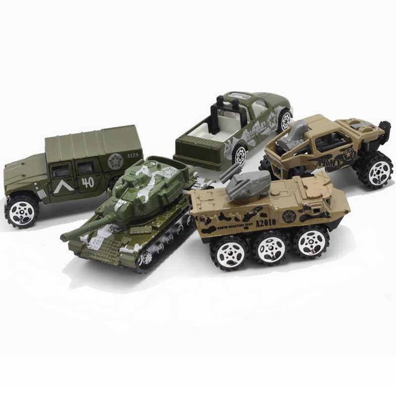 1: 64 5 Buah/Set Diecast Paduan Pemadam Kebakaran Mobil Model Pesawat Mainan Polisi Militer Militer Kendaraan Konstruksi Model Mainan untuk Anak Laki-laki