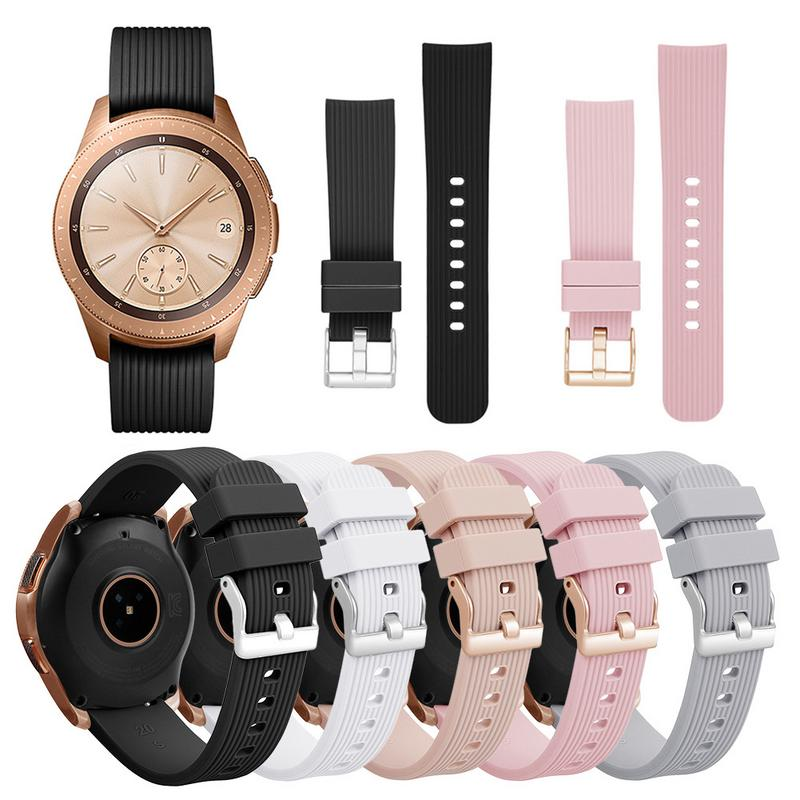 Image 5 - Silicone Bracelet Band 20MM Universal Wrist Strap Replacement Sports Smart Watch Watchband For Samsung Galaxy Long Lasting-in Smart Accessories from Consumer Electronics