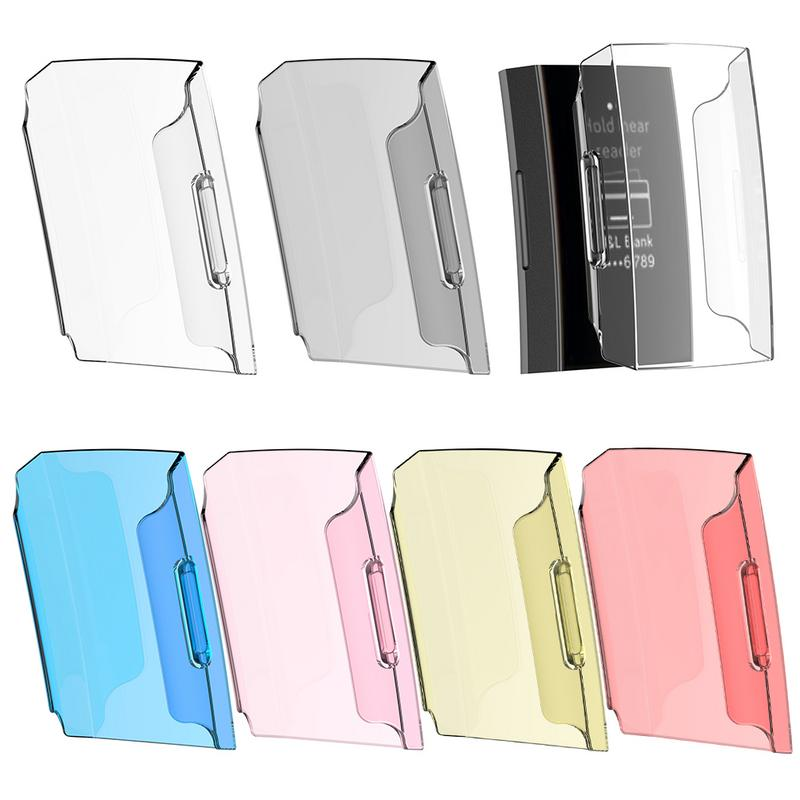 Smart Watch Bracelet Protective Cover 6 Colors Screen Protector Full Body Case Transparent Hard PC Shell For Fitbit Charge 3 1PC