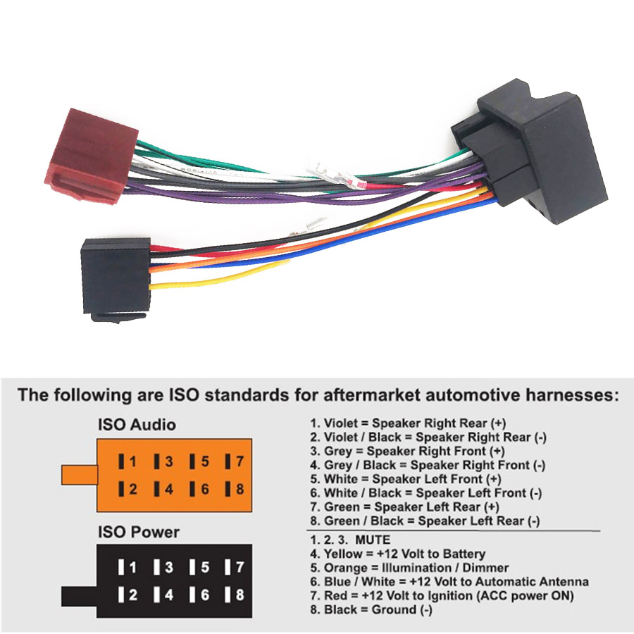 car stereo iso radio wiring harness headunit connector loom wiring wire cable adapter for ford fusion [ 900 x 900 Pixel ]