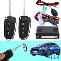 Keyless entry system car flip key for hyundai #15 left remote control door lock unlock central locking system CHADWICK 8118 kit