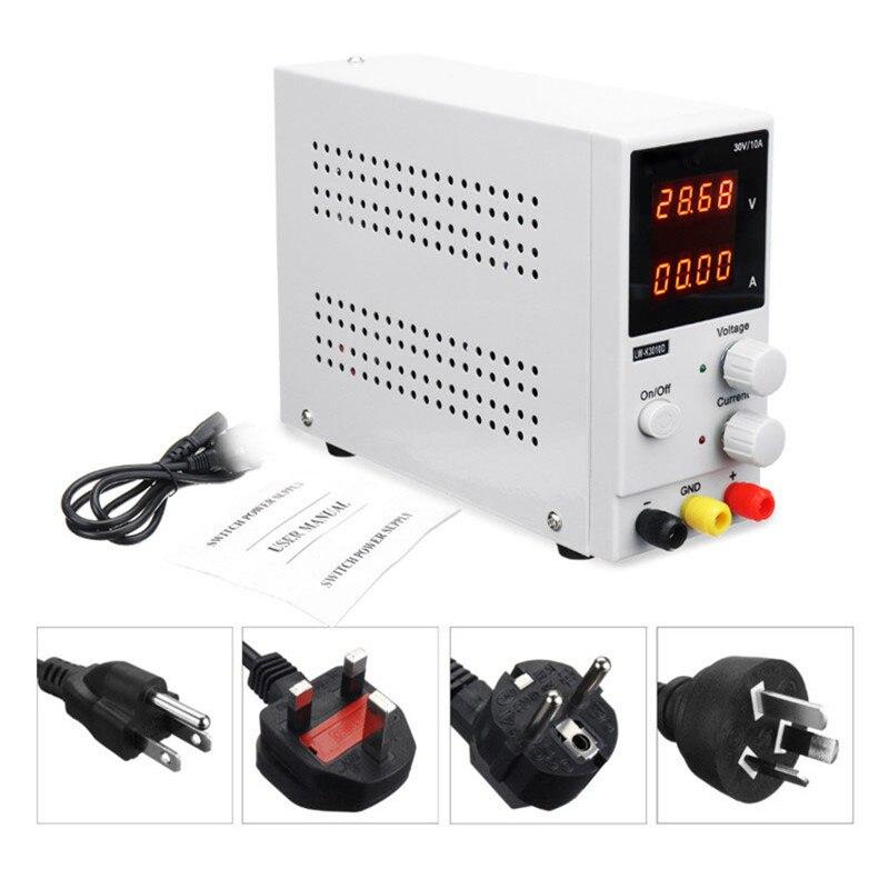 EU/UK/AU/US DC Power Supply Variabile 0-30 V/0-10A 110 V/ 220 V di Commutazione Regolabile alimentazione Regolata di Alimentazione Doppio Display LW-K3010DEU/UK/AU/US DC Power Supply Variabile 0-30 V/0-10A 110 V/ 220 V di Commutazione Regolabile alimentazione Regolata di Alimentazione Doppio Display LW-K3010D