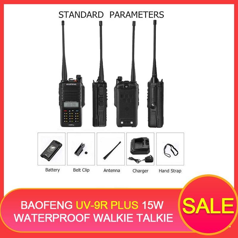 2 pièces BAOFENG UV-9R PLUS 15 W étanche talkie-walkie 10 W Portable CB Radio 4800 mAh UHF VHF Radio Comunicador UV HF émetteur-récepteur
