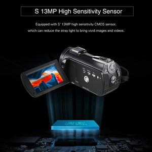 Image 4 - Ordro câmera de vídeo ac3 4k, wi fi, câmera camcorder, 24mp, 3.1, Polegada ips, 0.39x, ângulo aberto, lentes + microfone + capuz + suporte da câmera das lentes