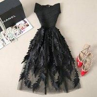 2019 Dresses Women Lace Bandage Patchwork Stretch Elegant Vintage Floral Fit &Flare Dresses Gown Formal Party Dresses Vestido