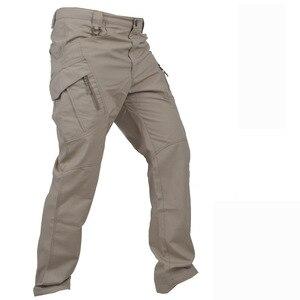 Image 5 - Multi Pocket Urban ยุทธวิธีทหารกางเกงชายกลางแจ้งปีนเขาการฝึกอบรมสวมใส่ Slim ตรงแฟนกองทัพ Cargo กางเกง