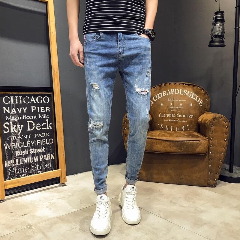 Jeans Men 2019 Men s modis Big Flared Jeans Boot Cut Leg Flared Loose Fit high