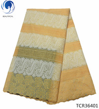 BEAUTIFICAL New african fabric lace embroidery swiss cotton fabric voile dry lace swiss fabric TCR364 де сен шама эмманюэль де сен шама бенуа коллекционер стром