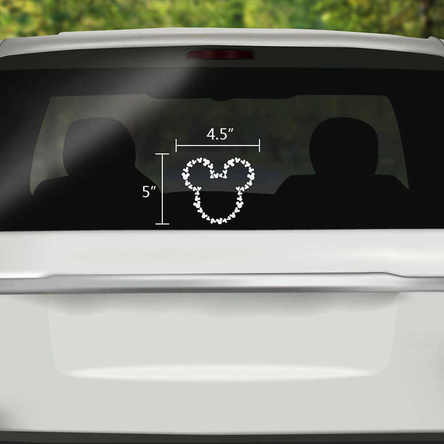 Funny car sticker cute mickey mouse cover scratches cartoon window decal for motorcycle vw bmw e46
