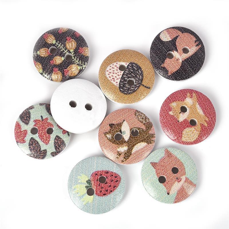 CLEAR FLOWER BUTTONS 12 colours 13mm /& 15mm diameter 2 holes per 10 buttons *