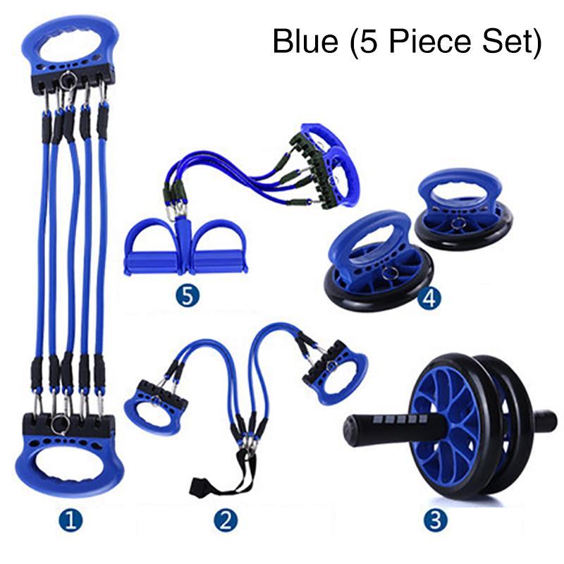 Équipement de Fitness ensemble accessoire poitrine équipement poignée de poignet roue push-up support Mat exercice Fitness équipement 3/5 pièce ensemble