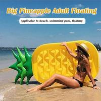 Inflatable Pineapple Air Mattresses Water Row Floating Cushion Bed Lifebuoy Swimming Ring