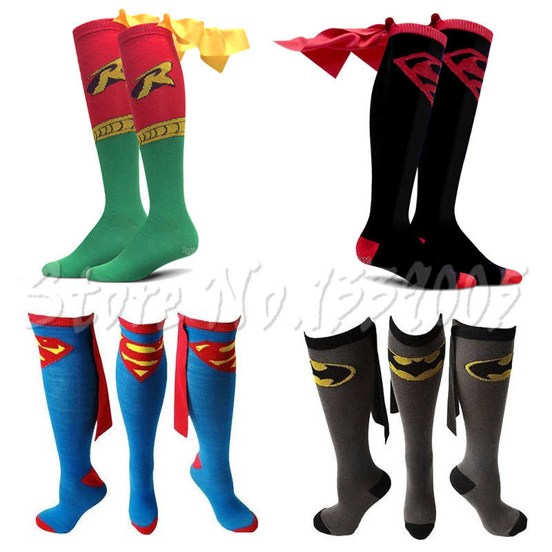 354fbab4276 Superman Wonder Woman Superhero Socks Robin Batman Superman Socks shoppe  personality Cosplay socks Christmas cartoon socks