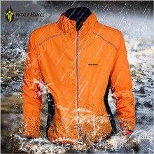WOLFBIKE MTB светоотражающие велосипедные куртки мужские 5 цветов водоотталкивающие дышащие майки ветровка велосипедные куртки спортивное пальто