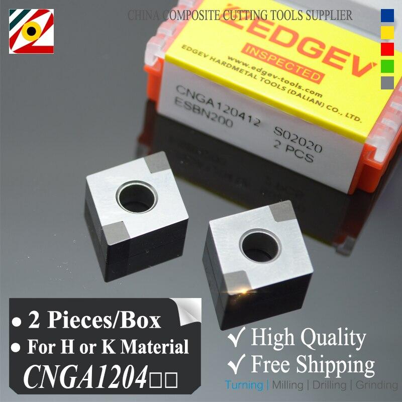EDGEV 2 sztuki Azotek boru Wkład CBN CNGA120404 CNMG120408 lub - Obrabiarki i akcesoria - Zdjęcie 1