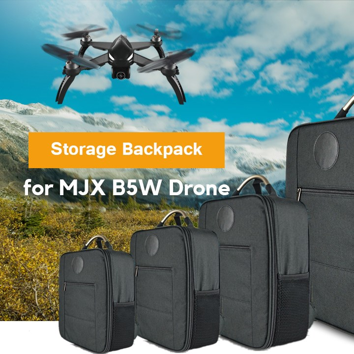 MjxR / C Technic Water-Resistant Storage Backpack With Side Handle Separate Interior Space Bag For B5W MJX Bugs 5W RC DroneMjxR / C Technic Water-Resistant Storage Backpack With Side Handle Separate Interior Space Bag For B5W MJX Bugs 5W RC Drone