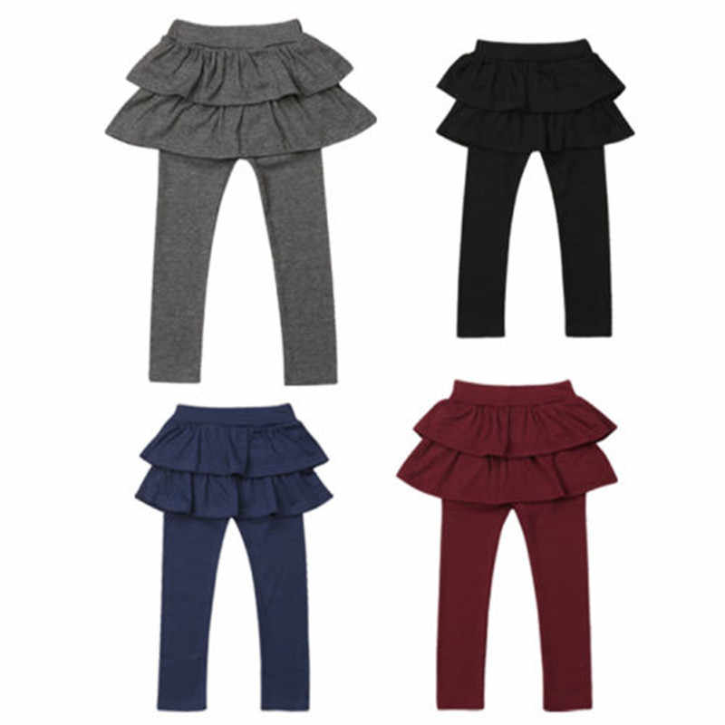 e32dd38f5 Girls Culottes Toddler Kids Baby Leggings Ruffles Skirt Clothes Pants Solid  Color Girl Cotton Infant