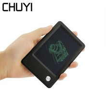 купить CHUYI Portable LCD Drawing Tablet 4.5 Inch Handwriting Pads Digital Memo Notes Reminder Electronic Mini Notepad For Kid Painting дешево