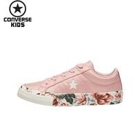 CONVERSE обувь для детей One Star детские кроссовки для девочек низкая Повседневная парусиновая обувь 362190C